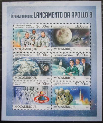 Poštovní známky Mosambik 2013 Mise Apollo 8, 45. výroèí Mi# 6609-14 Kat 10€