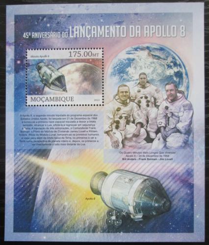 Poštovní známka Mosambik 2013 Mise Apollo 8, 45. výroèí Mi# Block 763 Kat 10€