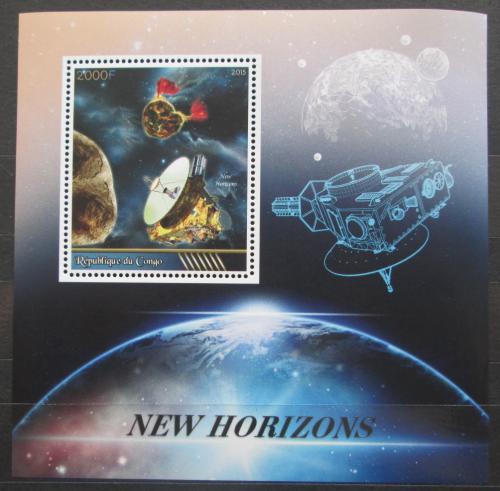 Poštovní známka Kongo 2015 Vesmírná mise New Horizons Mi# N/N