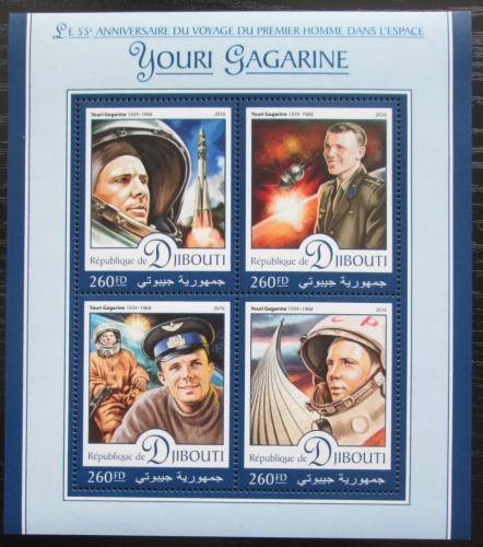 Poštovní známky Džibutsko 2016 Jurij Gagarin Mi# 1189-92 Kat 10€