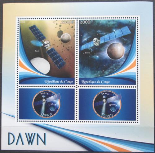 Poštovní známky Kongo 2015 Vesmírná mise Dawn Mi# N/N