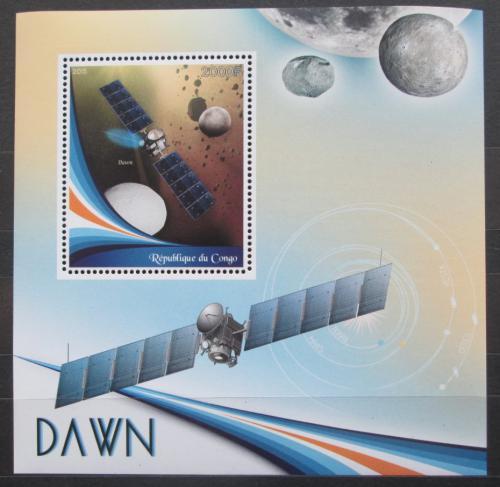 Poštovní známka Kongo 2015 Vesmírná mise Dawn Mi# N/N