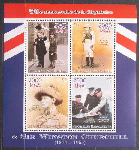 Poštovní známky Madagaskar 2015 Winston Churchill Mi# N/N