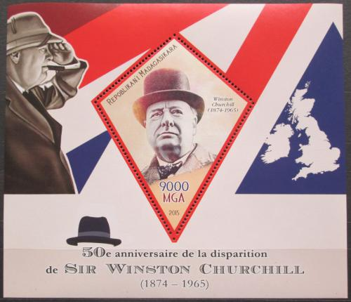 Poštovní známka Madagaskar 2015 Winston Churchill Mi# N/N