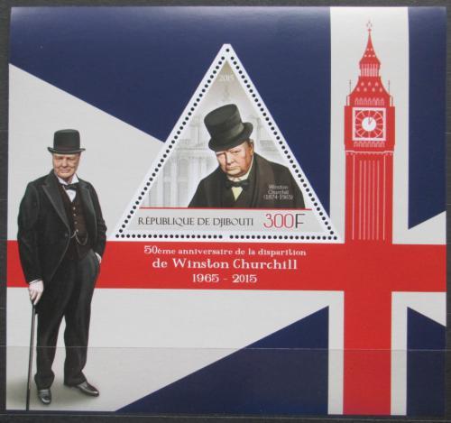 Poštovní známka Džibutsko 2015 Winston Churchill Mi# N/N