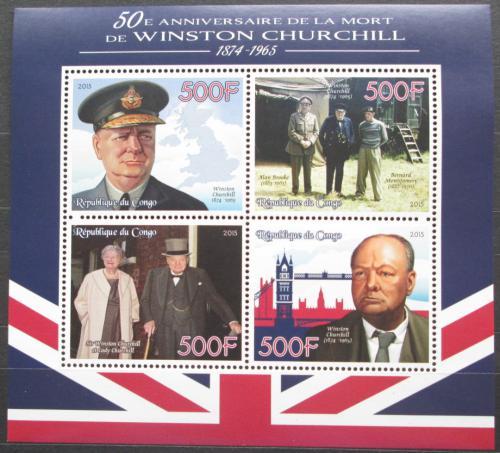 Poštovní známky Kongo 2015 Winston Churchill Mi# N/N
