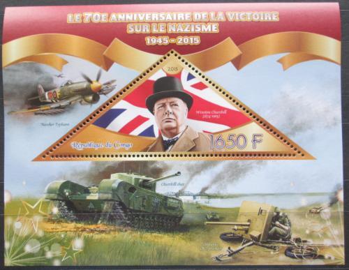 Poštovní známka Kongo 2015 Winston Churchill Mi# N/N