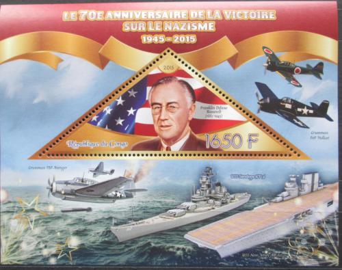 Poštovní známka Kongo 2015 Franklin D. Roosevelt Mi# N/N