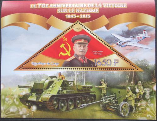 Poštovní známka Kongo 2015 J. V. Stalin Mi# N/N