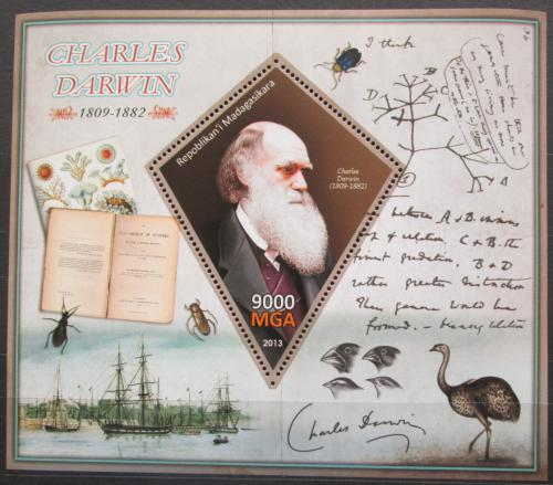 Poštovní známka Madagaskar 2013 Charles Darwin Mi# N/N