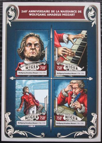 Poštovní známky Niger 2016 Wolfgang Amadeus Mozart Mi# 4297-4300 Kat 12€