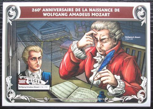Poštovní známka Niger 2016 Wolfgang Amadeus Mozart Mi# Block 564 Kat 12€