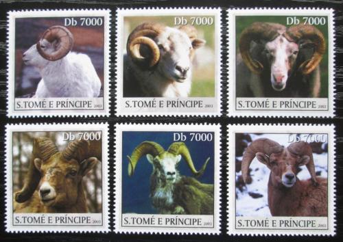 Poštovní známky Svatý Tomáš 2003 Berani a mufloni Mi# Mi# 2154-59 Kat 15€