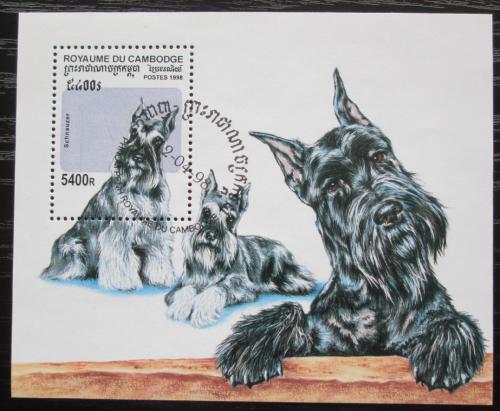Poštovní známka Kambodža 1998 Psi Mi# Block 238