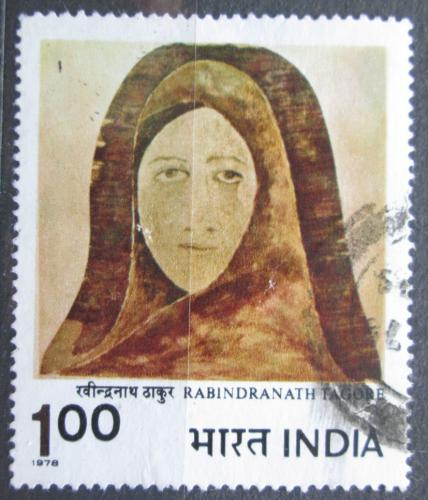 Poštovní známka Indie 1978 Umìní, Rabindranath Tagore Mi# 757