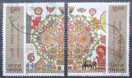 Poštovní známky Indie 2000 Umìní, Ganga Devi Mi# 1789-90