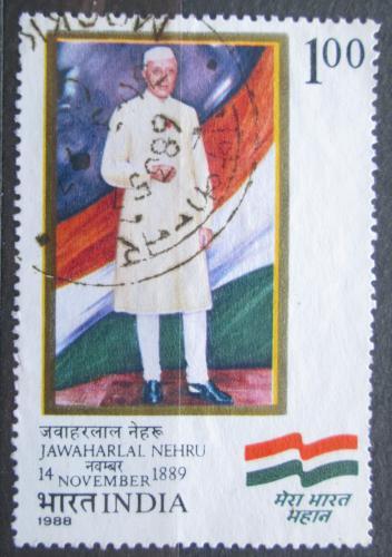 Poštovní známka Indie 1988 Jawaharlal Nehru Mi# 1190