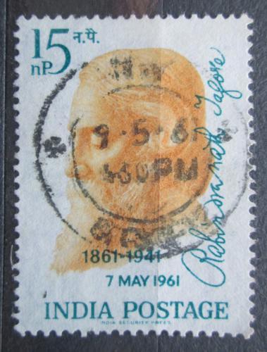 Poštovní známka Indie 1961 Rabindranath Tagore, spisovatel Mi# 325