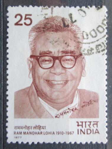 Poštovní známka Indie 1977 Ram Manohar Lohia, politik Mi# 731