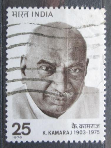 Poštovní známka Indie 1976 K. Kamaraj, politik Mi# 679
