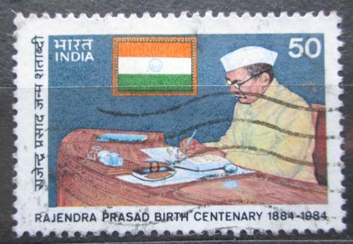 Poštovní známka Indie 1984 Prezident Rajendra Prasad Mi# 1007