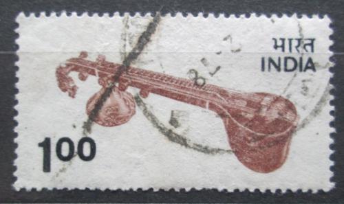 Poštovní známka Indie 1975 Hudební nástroj Mi# 638
