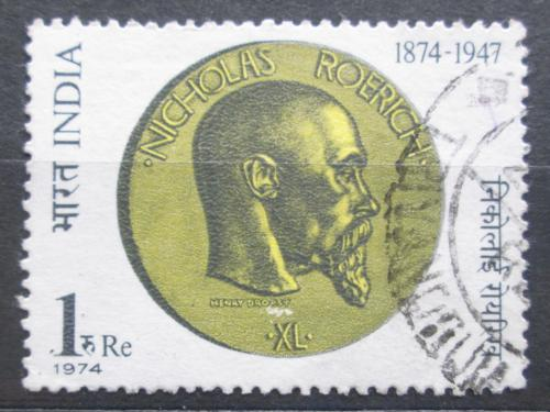 Poštovní známka Indie 1974 Nicholas Roerich, malíø a básník Mi# 608