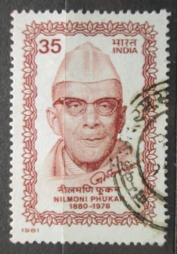 Poštovní známka Indie 1981 Nilmoni Phookan, novináø Mi# 872