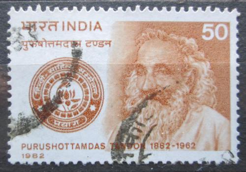 Poštovní známka Indie 1982 Purushottamdas Tandon, politik Mi# 933