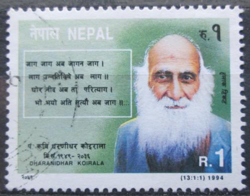 Poštovní známka Nepál 1994 Dharanidhar Koirala, básník Mi# 579