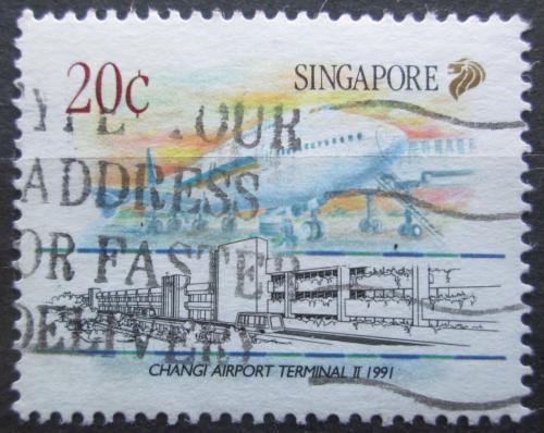 Poštovní známka Singapur 1991 Boeing 747 Mi# 629
