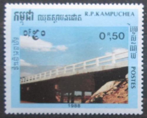 Poštovní známka Kambodža 1988 Most Mi# 993