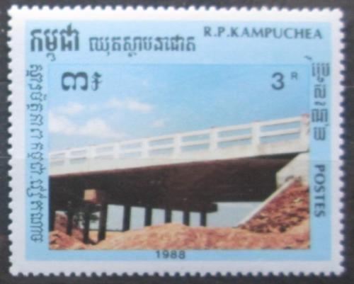 Poštovní známka Kambodža 1988 Most Mi# 995