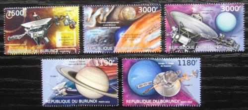 Poštovní známky Burundi 2012 Voyager 2, 35. výroèí Mi# 2978-82 Kat 10€