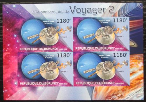 Poštovní známky Burundi 2012 Voyager 2, 35. výroèí neperf. Mi# 2978 B Bogen