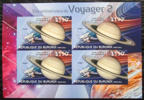 Poštovní známky Burundi 2012 Voyager 2, 35. výroèí neperf. Mi# 2979 B Bogen