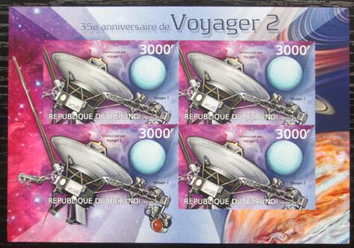 Poštovní známky Burundi 2012 Voyager 2, 35. výroèí neperf. Mi# 2980 B Bogen