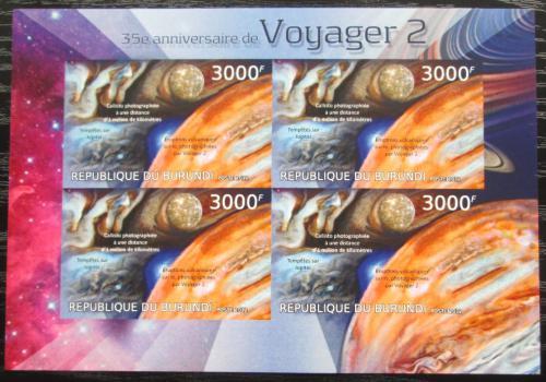 Poštovní známky Burundi 2012 Voyager 2, 35. výroèí neperf. Mi# 2981 B Bogen