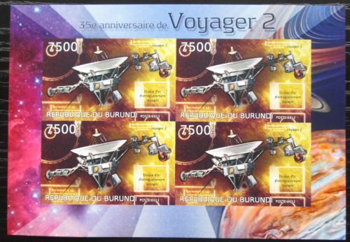 Poštovní známky Burundi 2012 Voyager 2, 35. výroèí neperf. Mi# 2982 B Bogen