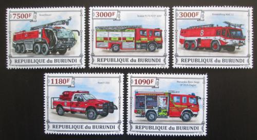 Poštovní známky Burundi 2013 Hasièská auta Mi# 3298-3302 Kat 10€