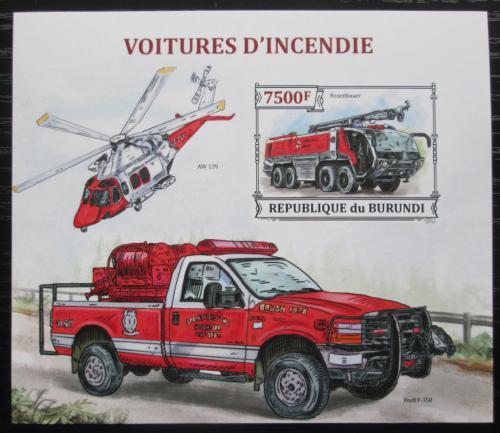 Poštovní známka Burundi 2013 Hasièská auta neperf. Mi# Block 384 B - zvìtšit obrázek