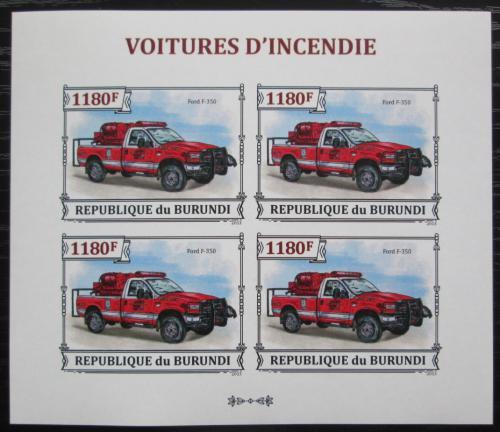 Poštovní známky Burundi 2013 Hasièské auto neperf. Mi# 3299 B Bogen