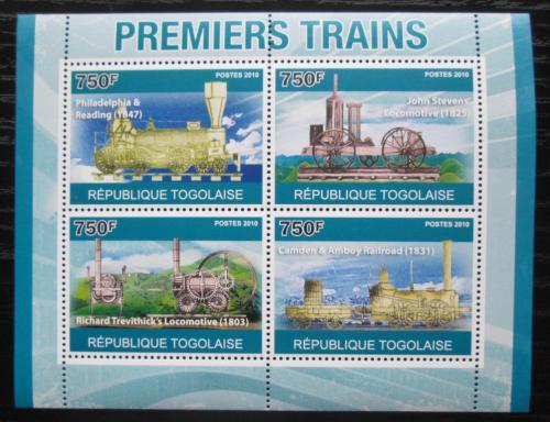 Poštovní známky Togo 2010 Historické lokomotivy Mi# 3759-62 Kat 12€
