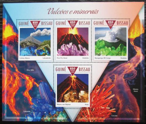 Poštovní známky Guinea-Bissau 2015 Sopky a minerály Mi# 7809-12 Kat 14€