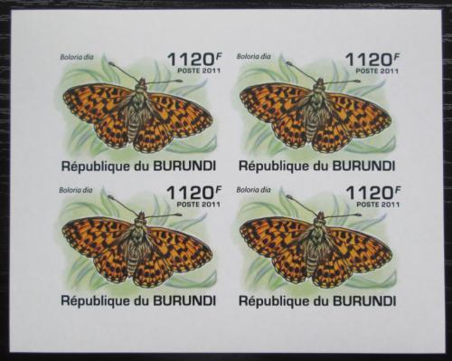 Poštovní známky Burundi 2011 Boloria dia neperf. Mi# 2119 B Bogen