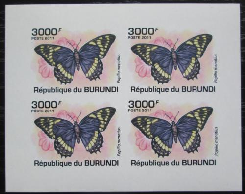 Poštovní známky Burundi 2011 Papilio menatius neperf. Mi# 2120 B Bogen