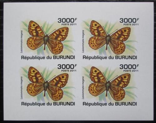 Poštovní známky Burundi 2011 Lasiommata megera neperf. Mi# 2121 B Bogen