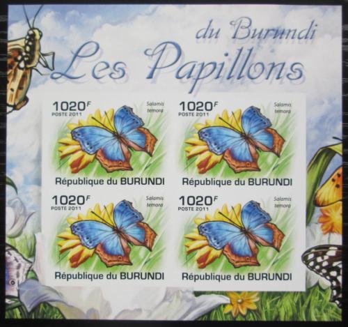 Poštovní známky Burundi 2011 Salamis temora neperf. Mi# 2122 B Bogen