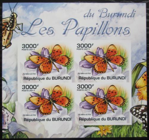 Poštovní známky Burundi 2011 Acraea acrita neperf. Mi# 2124 B Bogen