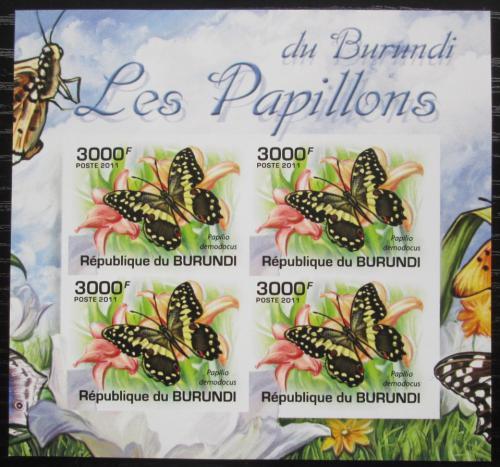 Poštovní známky Burundi 2011 Papilio demodocus neperf. Mi# 2125 B Bogen
